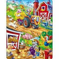 Larsen Puzzle Zwierzęta na podwórku, 22 części