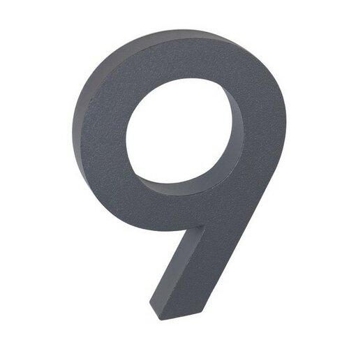 Număr aluminiu de casă 9, suprafață în relief 3D imagine 2021 e4home.ro