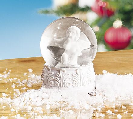 "Sněžítko """"Anděl"""", bílá, 6,5 x 8 cm"