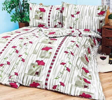 Bavlnené obliečky Vlčie maky, 140 x 200 cm, 70 x 90 cm