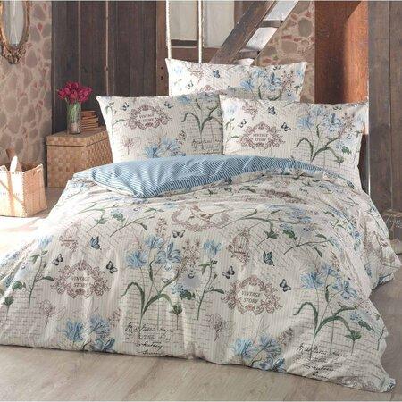 Bavlnené obliečky Valeria modrá, 140 x 220 cm, 70 x 90 cm