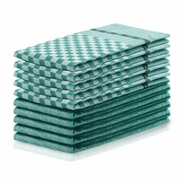 DecoKing Prosop bucătărie Louie, verde închis, 50 x 70 cm, set 10 buc.