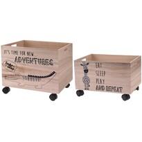 Set cutii decorative de depozitare Hatu Crocodilși girafă