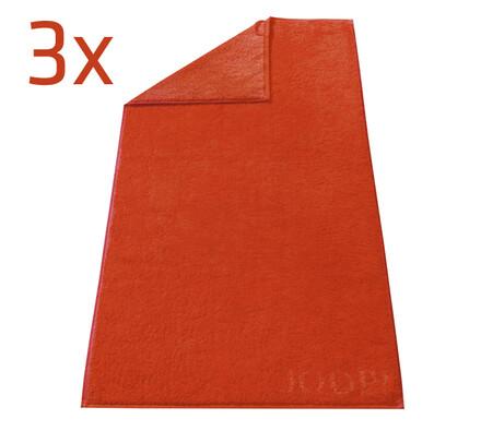 Ručník Doubleface JOOP! červený, 50 x 100 cm, sada, červená, 50 x 100 cm