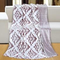 Reliéf micro Ornament takaró, bordó, 150 x 200 cm