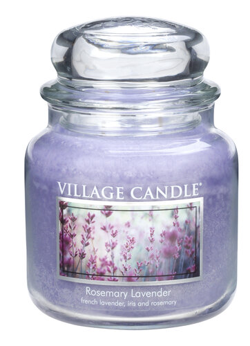 Village Candle illatgyertya, Rozmaring és levendula - Rosemary Lavender, 397 g