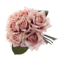 Umělá kytice rozkvetlých růží, 18 x 26 cm