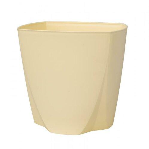 Plastový květináč Camy 21 cm, vanilková, Plastia, pr. 21 cm