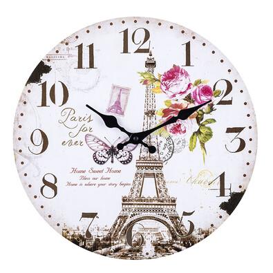 Nástěnné hodiny Eiffelova věž 34 cm