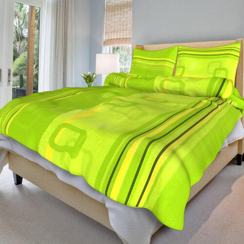 Krepové obliečky Tonda zelený, 140 x 200 cm, 70 x 90 cm