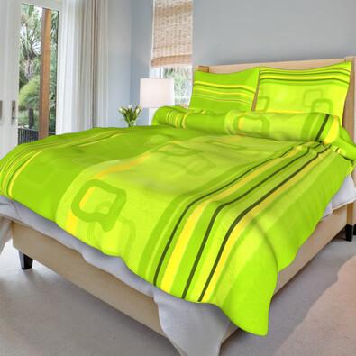Krepové povlečení Tonda zelený, 140 x 200 cm, 70 x 90 cm