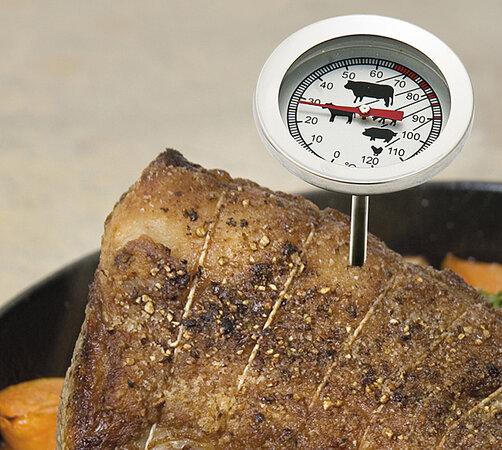 Teploměr do masa, stříbrná, 12 cm