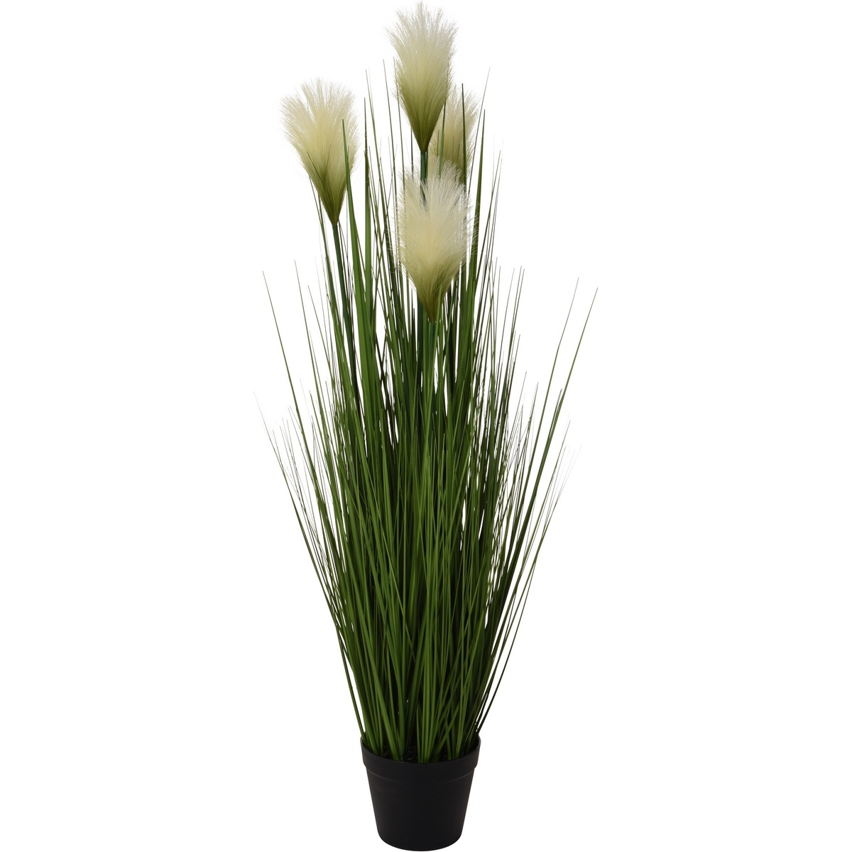 Umělá kvetoucí tráva v květináči, 104 cm