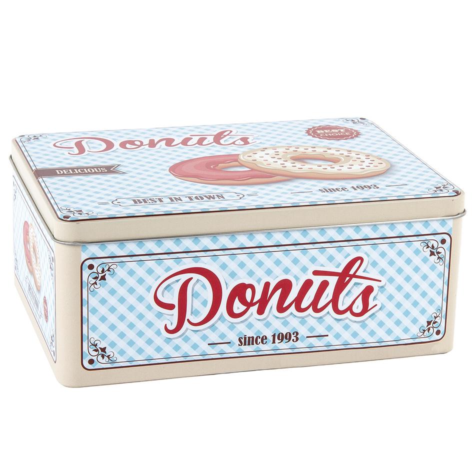 Plechový box Donuts 22 x 16 x 9 cm