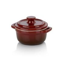 Kela Brytfanna ceramiczna z pokrywą MALIN 10 x 8 cm, czerwony