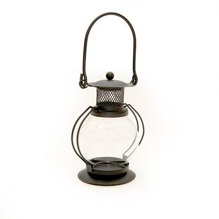 Mini lucerna kulatá, černá