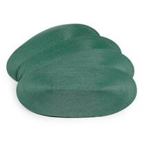 Prestieranie Deco ovál zelená, 30 x 45 cm, sada 4 ks
