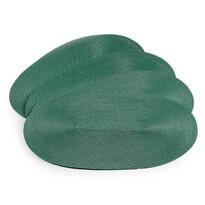 Prostírání Deco ovál zelená, 30 x 45 cm, sada 4 ks