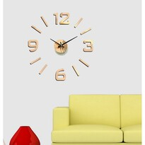 StarDeco Nástenné hodiny bronzová, priemer 60 cm