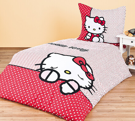 Dětské bavlněné povlečení Hello Kitty  140 x 200 cm, 70 x 80 cm