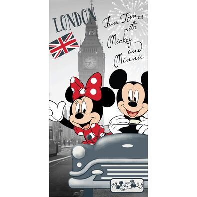 Osuška Mickey and Minnie in London, 70 x 140 cm