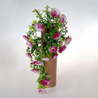 Umělá květina chryzantémy fialová