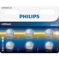 Philips CR2032P6/01B sada knoflíkových lithiových baterií CR2032, 6 ks
