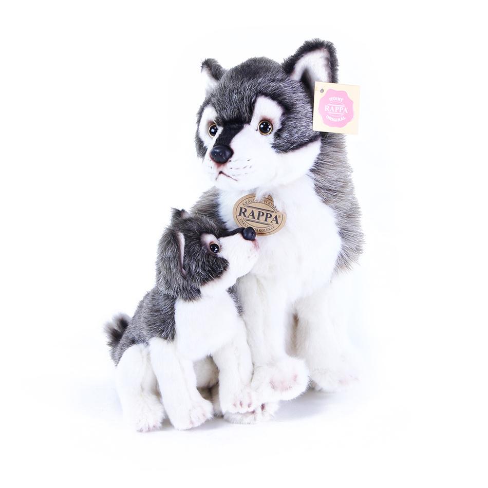 Rappa Plyšový vlk s mládětem, 27 cm