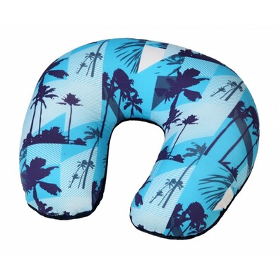 Cestovný vankúš podkova Palmy, modrá