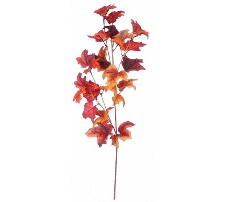 Podzimní větev s javorovými listy - červená