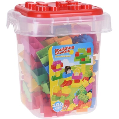 Gyermek építő készlet, 100 db