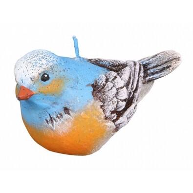 Dekoratívna sviečka vtáčik, modrá