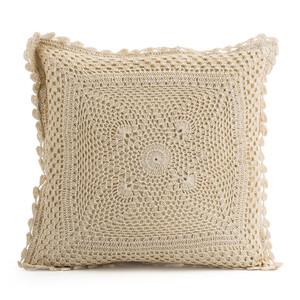 Polštářek z pleteniny Gita béžová, 40 x 40 cm
