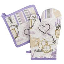 4Home Zestaw rękawica i podkładka Lavender