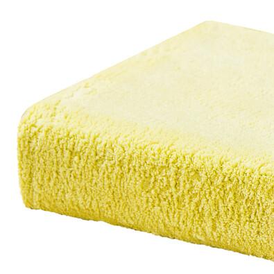 Prostěradlo z mikrovlákna, žlutá, 2 ks 90 x 200 cm