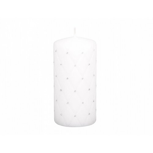 Dekorativní svíčka Florencia bílá, 14 cm