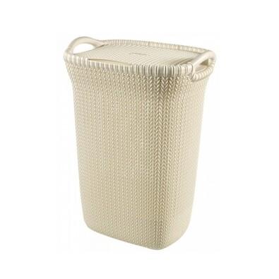 Curver 03676-X64 koš na špinavé prádlo Knit 57 l, krémová
