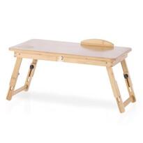 Bambusowy stolik na laptop z szufladką Ryker, 25 x 30 x 50 cm