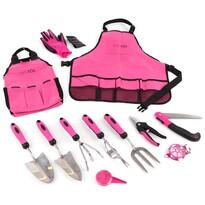 Sixtol Zestaw narzędzi ogrodniczych Garden pink, 12 elem.