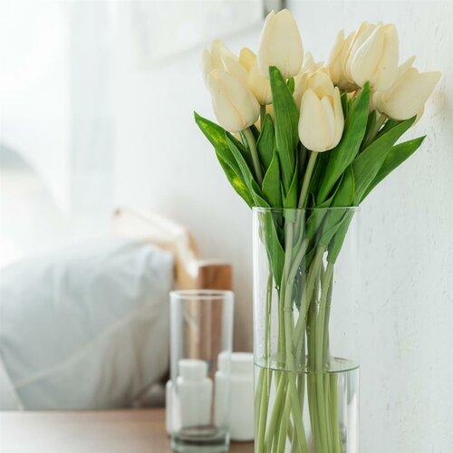 Crystalex Üveg váza, 10,5 x 25,5 cm