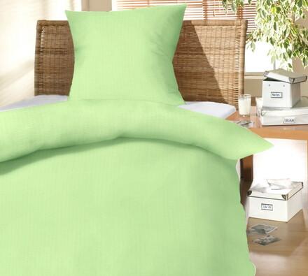 Krepové povlečení Barra zelená, 140 x 200, 70 x 90, světle zelená, 140 x 200 cm, 70 x 90 cm