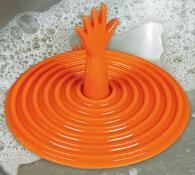 Univerzální zátka do umyvadla oranžová