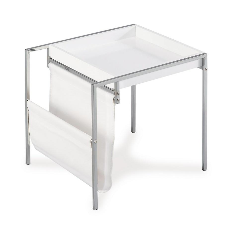 Odkládací stolík, biela