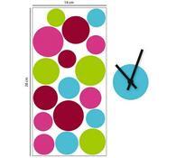 Pěnové samolepicí hodiny Circles, 14 x 28 cm
