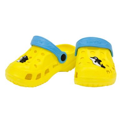 Bino Dětské clogs s delfínem žlutá
