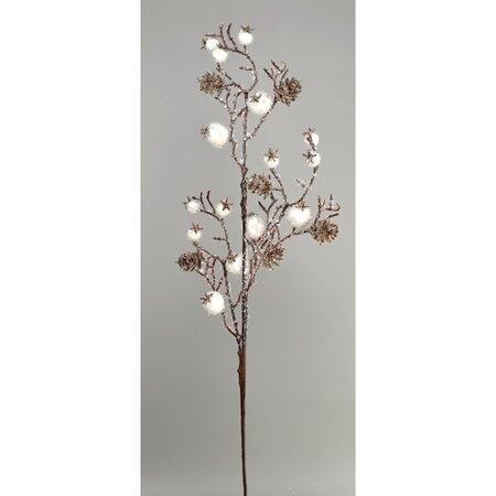 Ramură de Crăciun, Coarne, alb, 65 cm