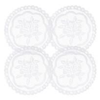 Dekorační podložka Rozálie, průměr 20 cm, sada 4 ks
