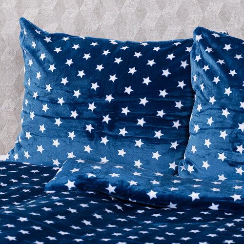 4Home povlečení mikroflanel Stars modrá, 140 x 200 cm, 70 x 90 cm