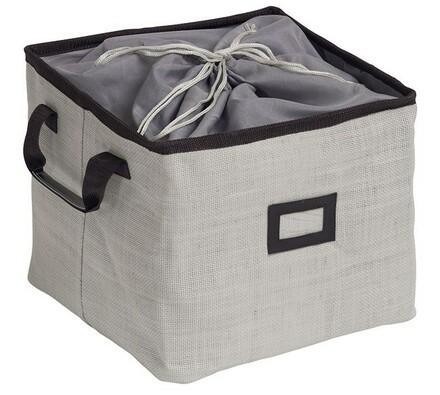 Úložný box šedý, 35 x 35 x 29 cm