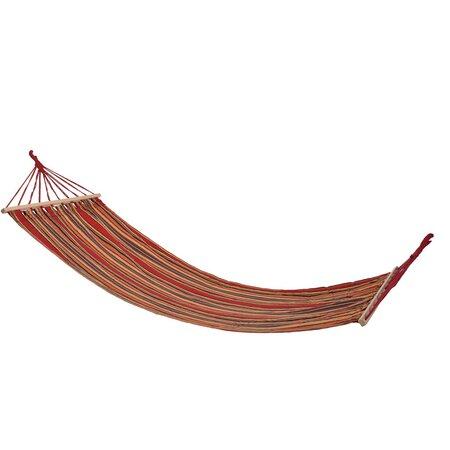 Hamac cu bară din lemn Hammock roșu, 200 x 80 cm